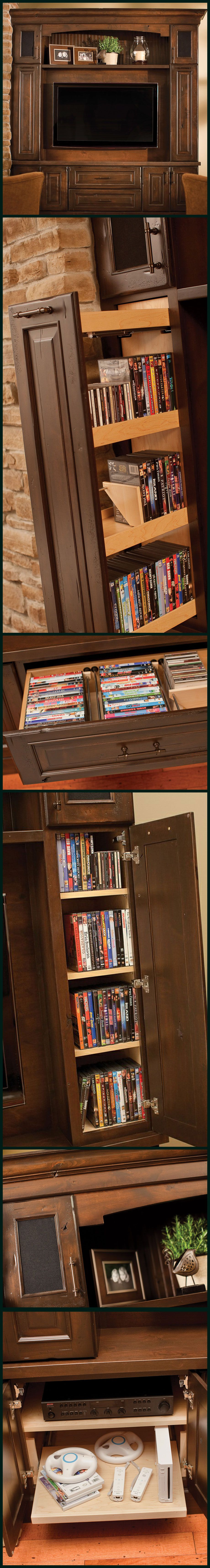 17 Diy Entertainment Center Ideas And Designs For Your New Home Built Fuse Box Think Out Of The Design An With Storage Whole Family Surround System Speaker Game Roll Shelves