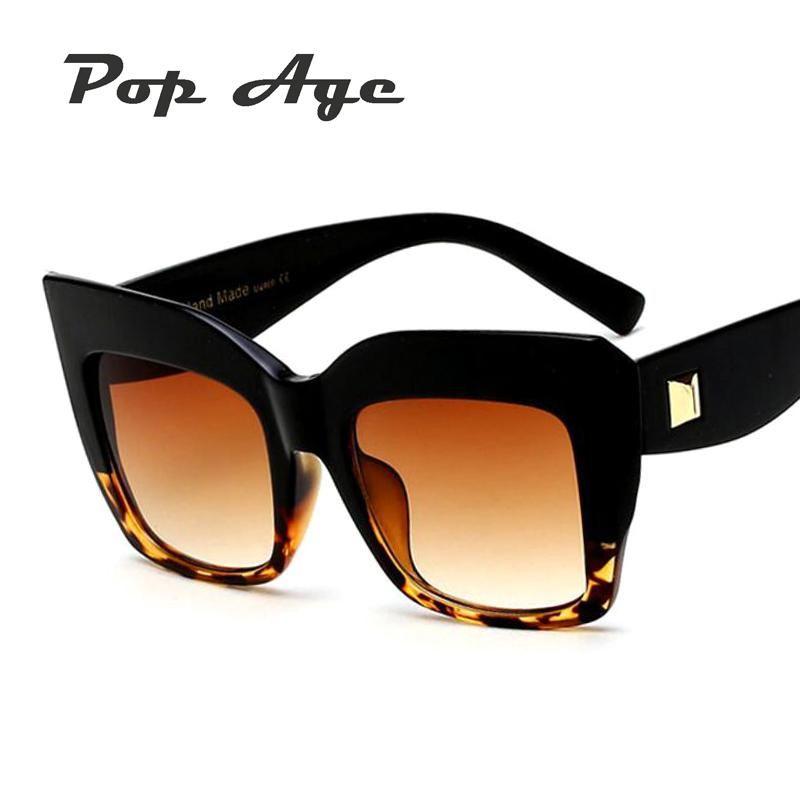4d28b06e45 Pop Age Newest Luxury Brand Designer Sunglasses Women Men Fashion Square Sun  glasses Female Vintage Eyeglasses