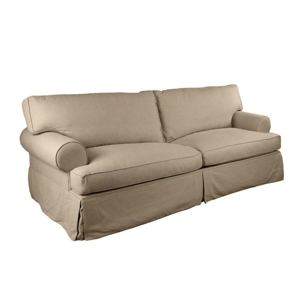 this modern slipcovered tan beige sand colored slipcover sofa is very easyto match with your. this modern slipcovered tan beige sand colored slipcover sofa is