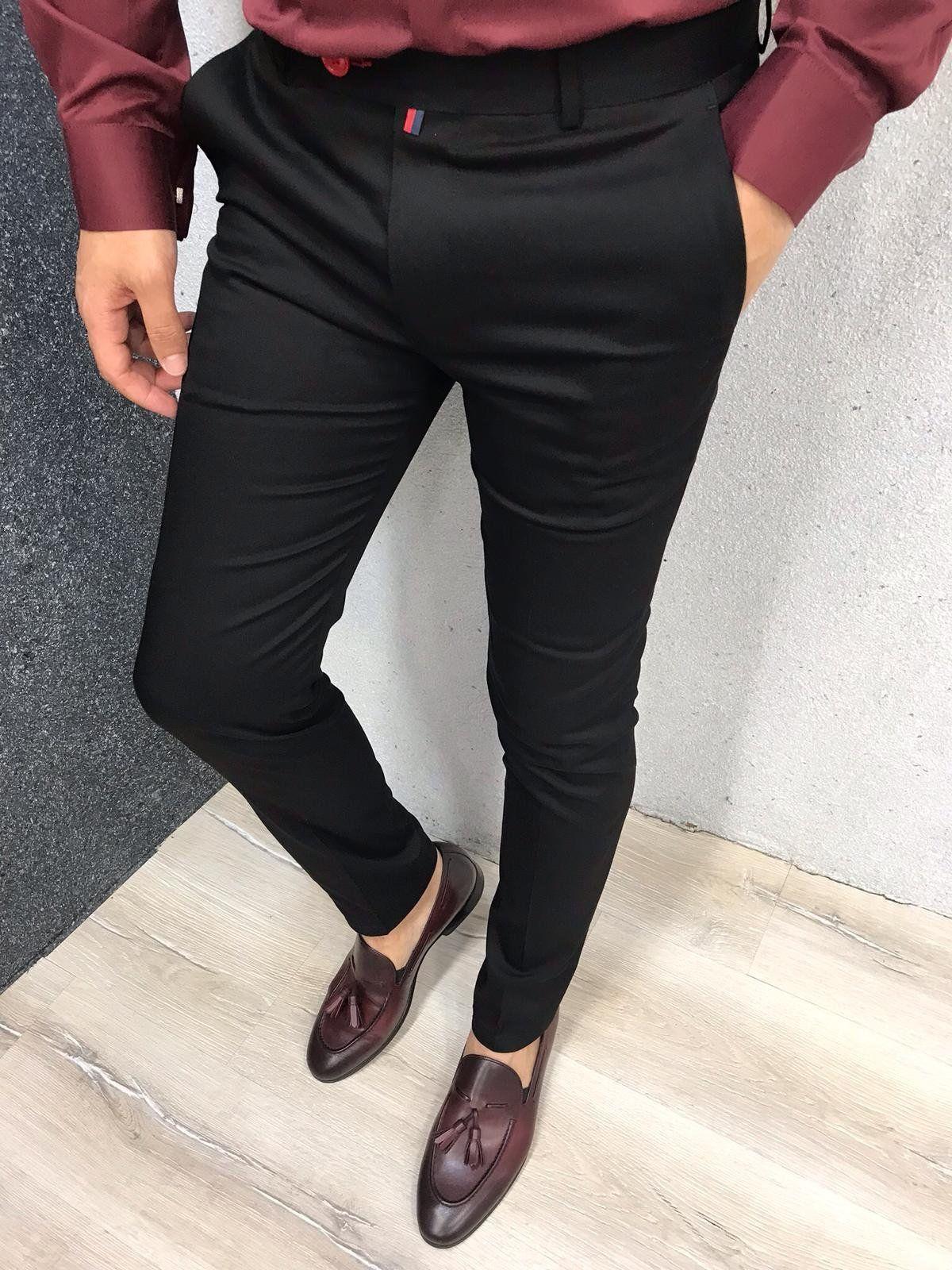 Kingston Black Slim Pants Black Slim Fit Dress Pants Slim Fit Dress Pants Black Slim Pants [ 1600 x 1200 Pixel ]