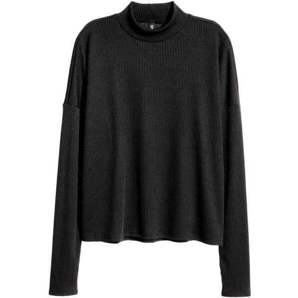 Ribbed Mock-turtleneck Sweater $9.99 (€8,89) ❤ liked on Polyvore ...