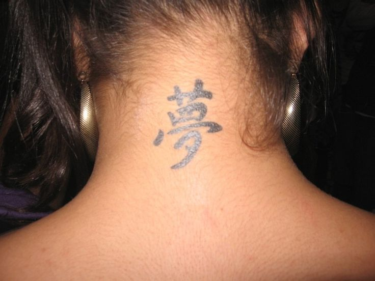 Tattoo Designs For The Neck Photograph Of Chinese Language
