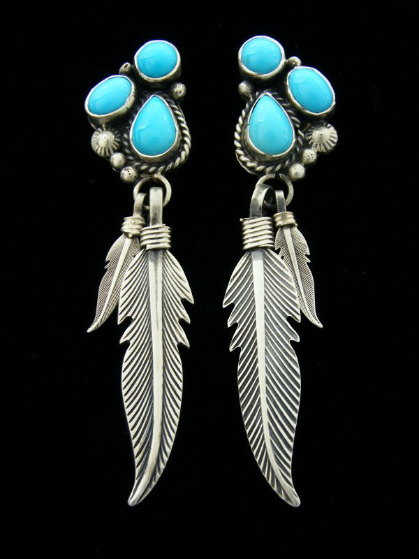 7f483fa9b Native American Turquoise Jewelry   Native American Indian Jewelry Earrings  Turquoise Navajo Zuni Santo .
