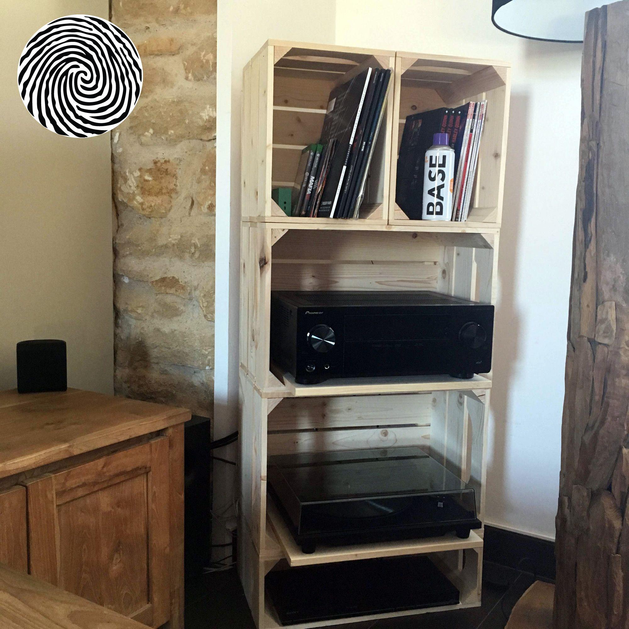 meuble tv cagette stunning assembler les lments with meuble tv cagette cool meuble tv. Black Bedroom Furniture Sets. Home Design Ideas