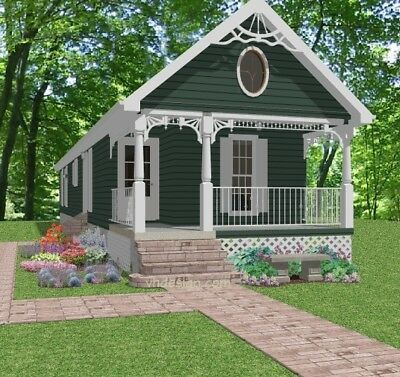 Details about Custom Small Narrow House Home Build Plans 2 3 bed 910 sf PDF file