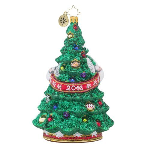 Christopher Radko Dated 2016 and Adorned Dated 2016 Christmas Tree Ornament - Christopher Radko Dated 2016 And Adorned Dated 2016 Christmas Tree