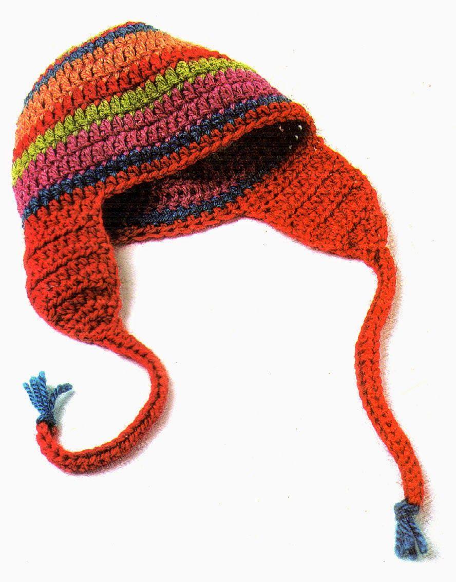 tejidos artesanales en crochet: gorro coya tejido en crochet ...