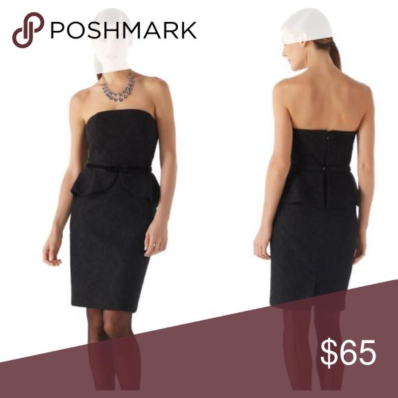 8a51e3f07f WHBM lace peplum dress Like new White House Black Market Dresses Strapless