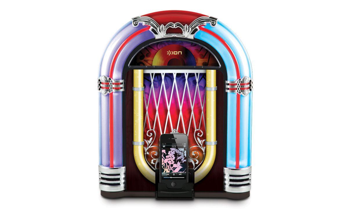 I want this! (iPhone/ipod Jukebox Dock) Retro speakers
