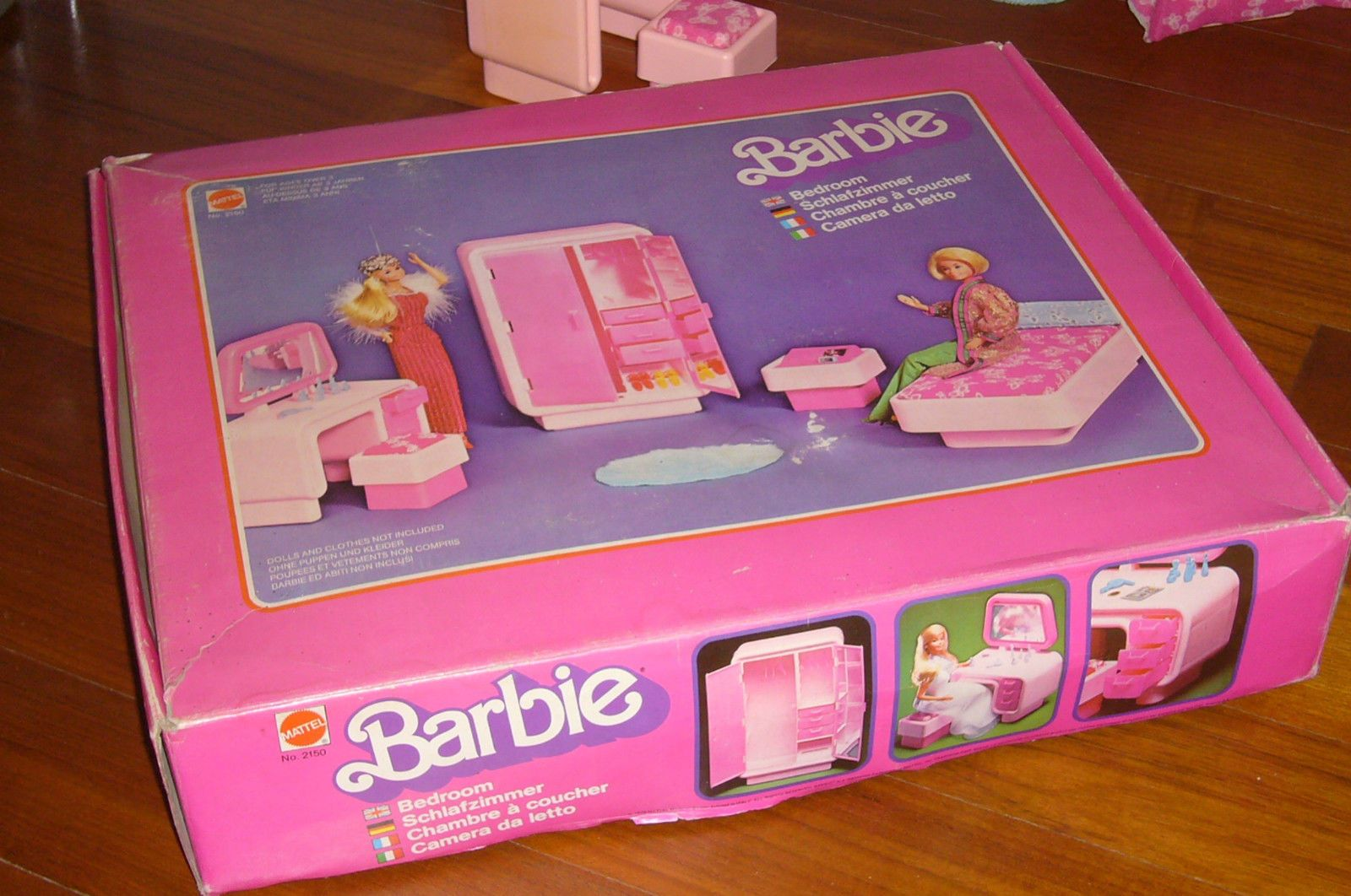 Camera da letto bedroom barbie superstar mattel doll bambola vintage ...
