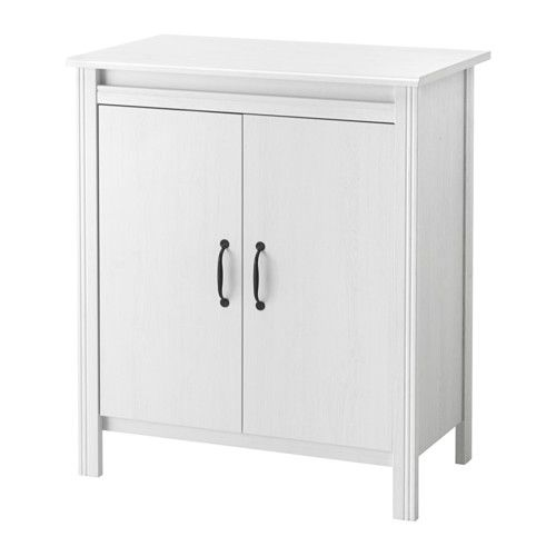 BRUSALI Cabinet with doors IKEA Adjustable shelves, so you can customize your storage as needed.
