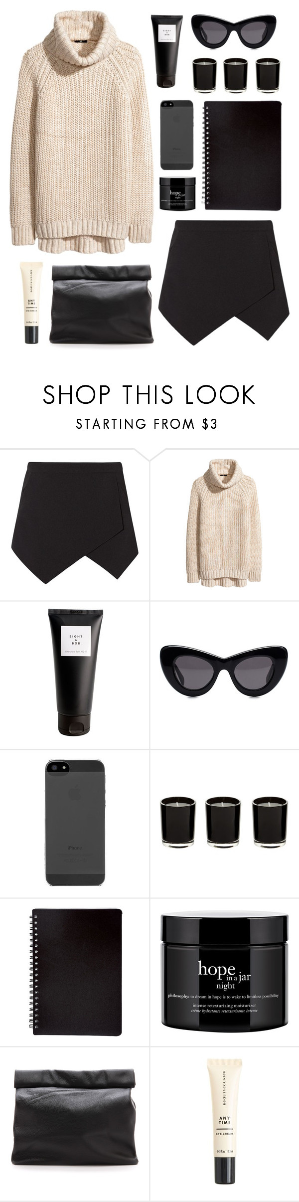 """""""Untitled #2043"""" by katerina-rampota ❤ liked on Polyvore featuring H&M, Eight & Bob, CÉLINE, philosophy, Marie Turnor and J.Crew"""