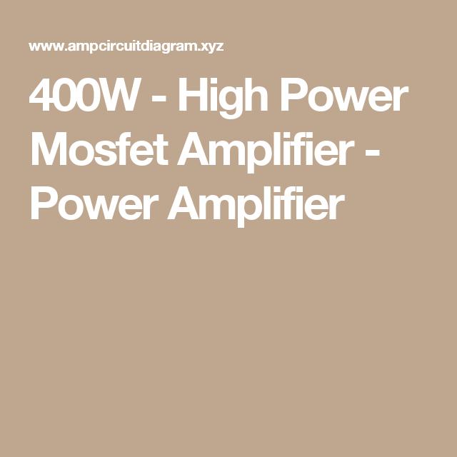 400w High Power Mosfet Amplifier Power Amplifier Subwoofers