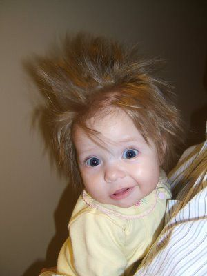 I hope my child has bed-head like this.