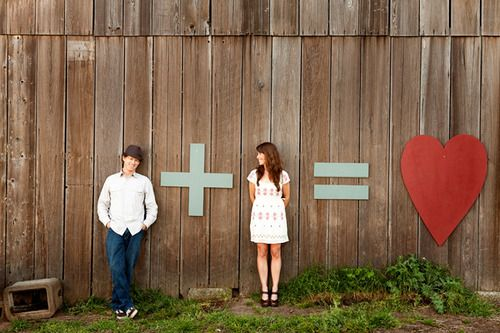 I agree: this sure would make an awesome engagement photo, or wedding save the date!  SOMEDAY!