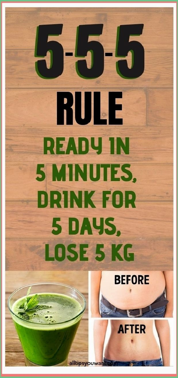 5-5-5 RULE: READY IN 5 MINUTES, DRINK FOR 5 DAYS,