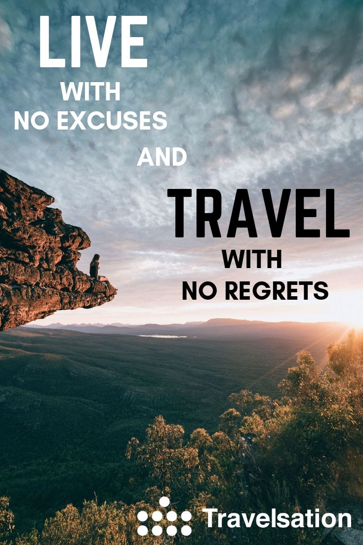 Travel quote. Let's explore the world