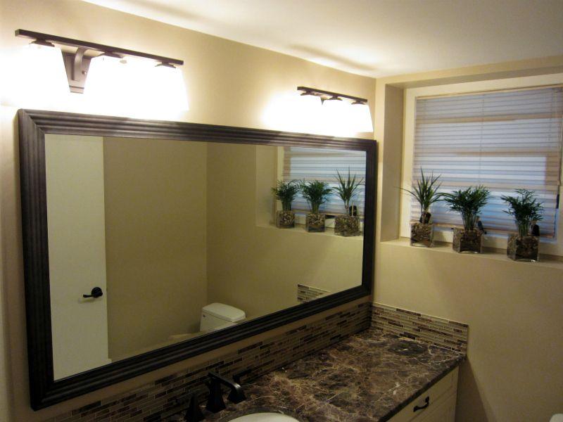 Framed Bathroom Mirrors Calgary custom framed bathroom mirror | house of mirrors calgary | framed