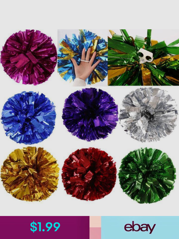Cheerleading Pom Poms Ebay Clothing Shoes Accessories Cheerleading Party Poms Dance Party Decorations