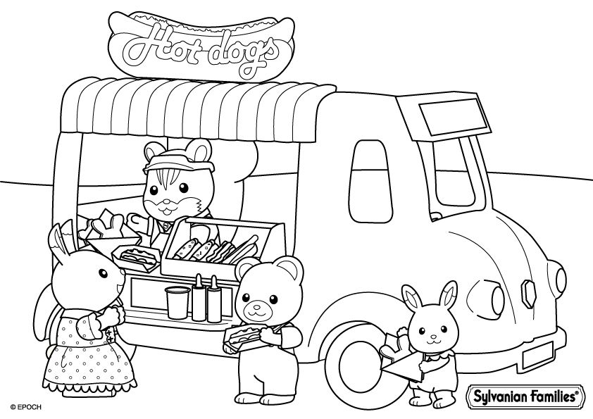 Pin On Sylvanian Families Coloring Pages