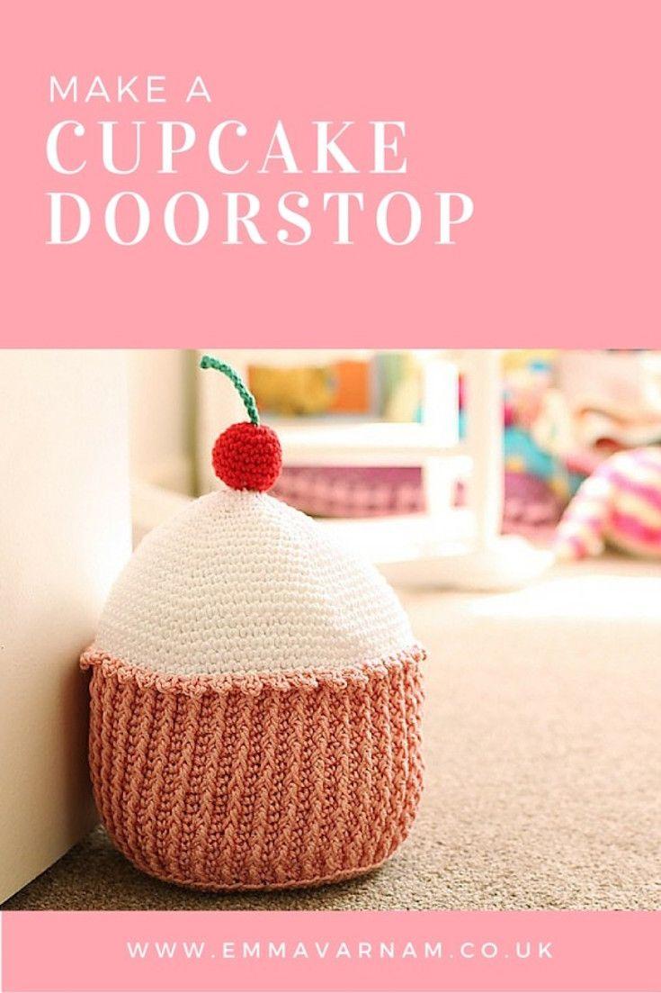 Crochet Cupcake Doorstop - pattern linked! | yarn craft | Pinterest