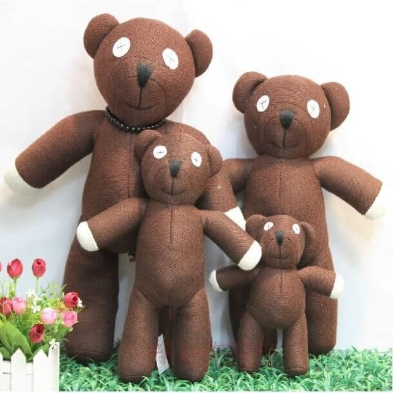 23cm Height Mr Bean Teddy Bear Animal Stuffed Plush Toy For Children Gift Brown