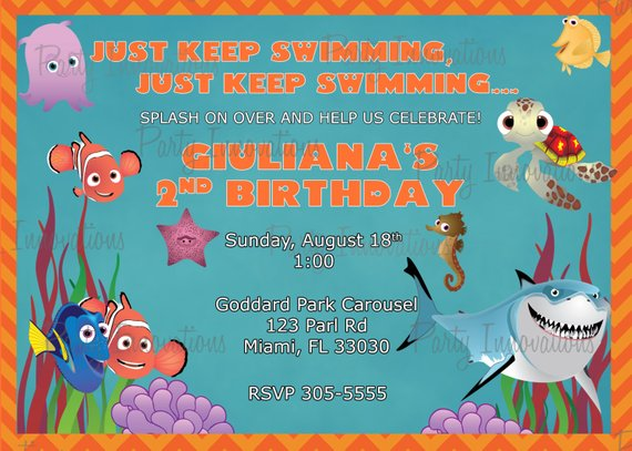 Printable Finding Nemo Invitation Products Pinterest