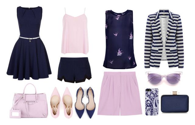 Pink blue by julimoli27 on Polyvore featuring polyvore, fashion, style, Closet, Dorothy Perkins, Oasis, Glamorous, DKNY, Sophia Webster, Zara, Balenciaga, Monsoon, Trina Turk and clothing