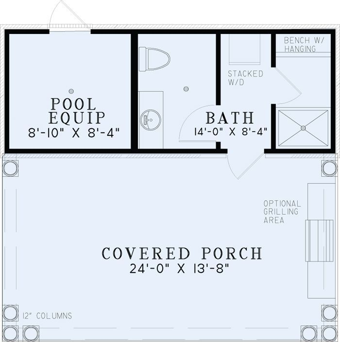 Poolhouse Plan With Bathroom Best House Plans Home Plans Floor Plans Pool House Bathroom Pool House Plans Pool Bathroom