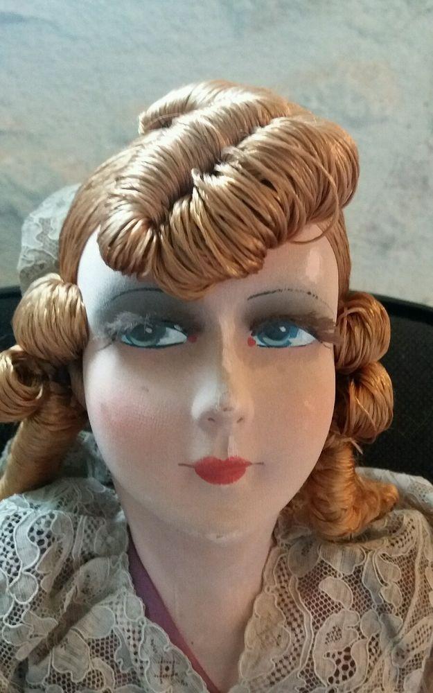 Poupée de salon ancienne boudoir doll old doll 1920-1930 art déco