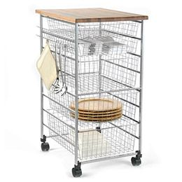 The Container Platinum Elfa Kitchen Cart