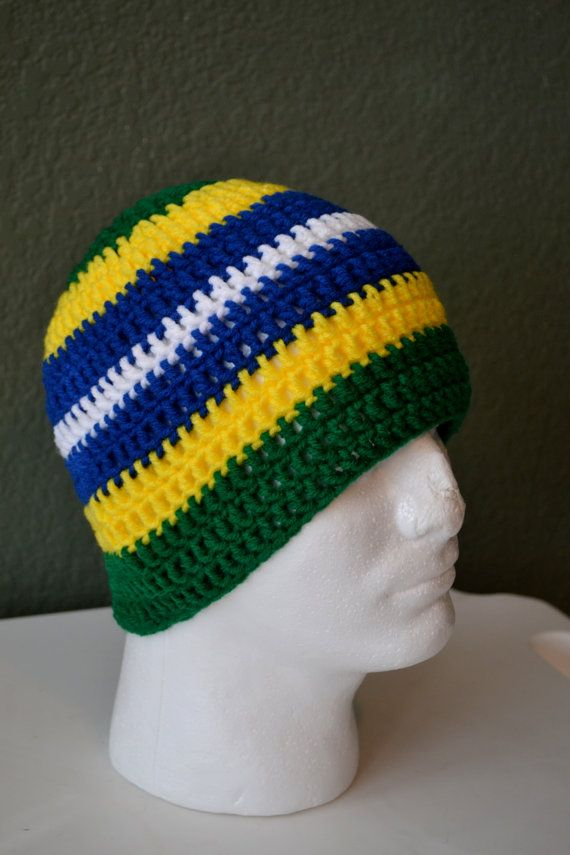 Crochet Brazilian Skullcap. Brazil Crochet Beanie. by Africancrab ... 691874e7ba6