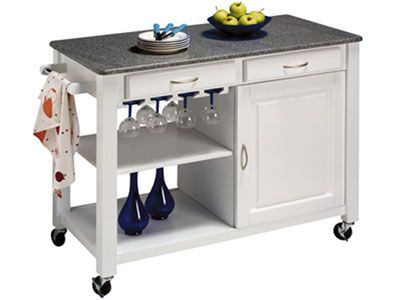 La desserte est un petit meuble mobile pour transporter la - Desserte de cuisine pas cher ...