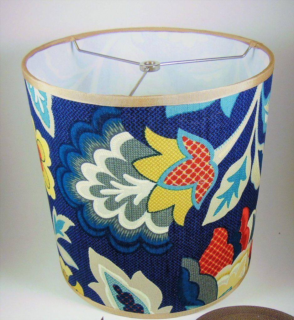 Custom Lampshade Funky Floral Drum Lamp Shades Funky Drum Lampshade