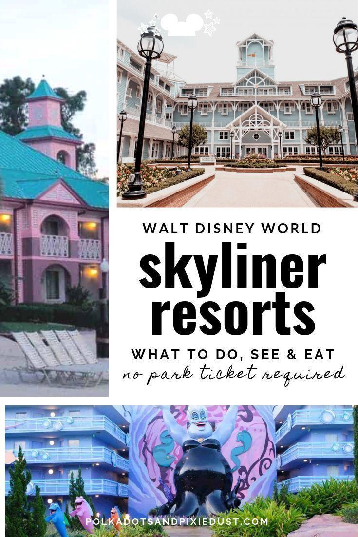 Disney skyliner resorts a free disney day polka dots