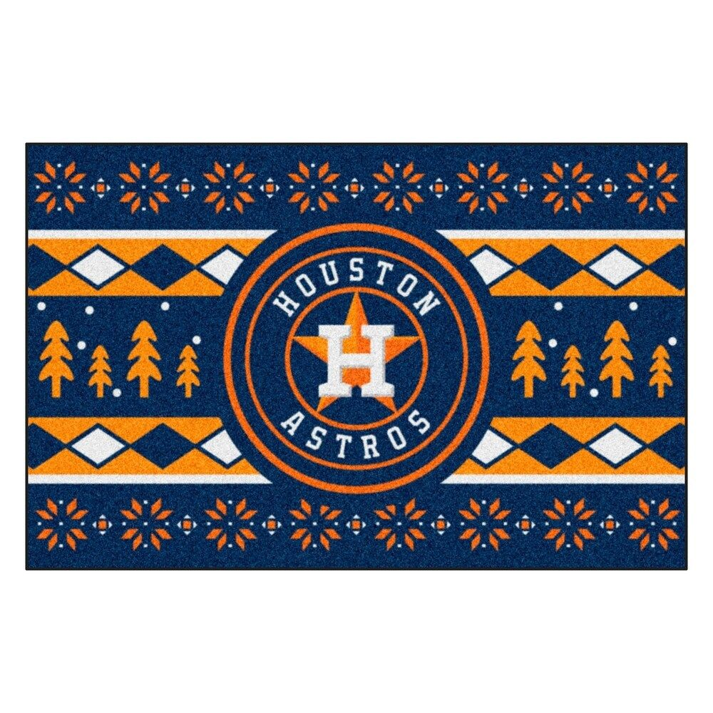Photo of MLB – Houston Astros Holiday Sweater Starter 19″x30″ – 1'7″ x 2'6″, Multicolor, Fanmats