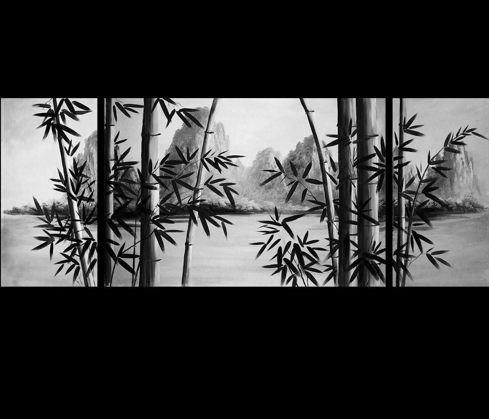 Framed Artwork Canvas Art Bamboo Art Canvas Prints Japanese Wall Art