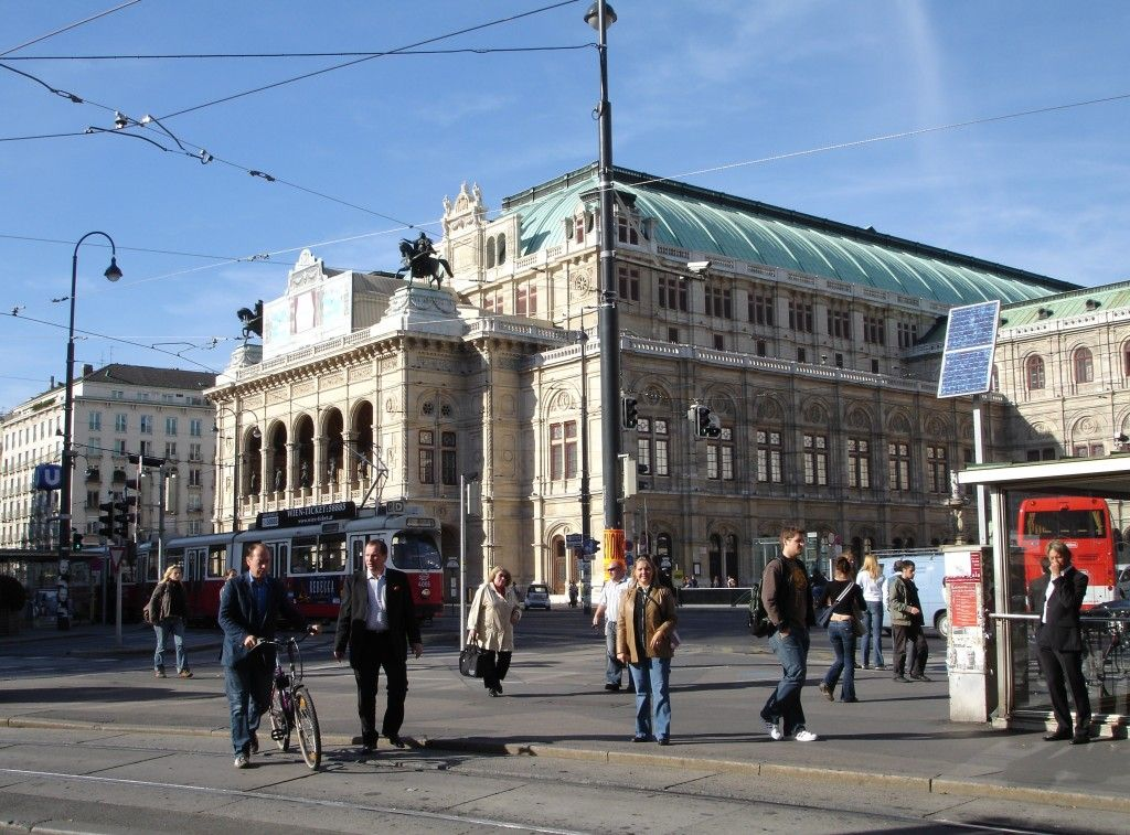This photo shows the Innere Staldt. It is the historical center of Vienna.