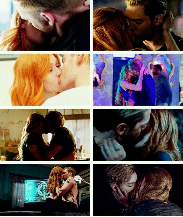 Clace kisses through both seasons #Shadowhunters
