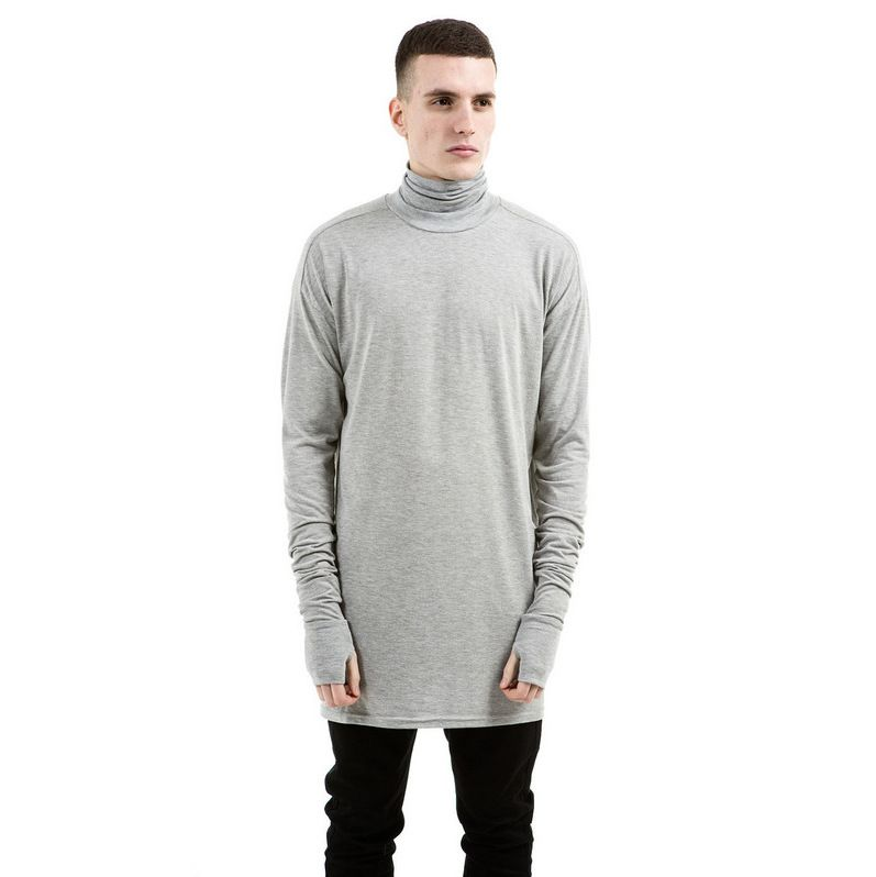 a45cecb5c686 New Thumb Hole Cuffs Long Sleeve Turtleneck Solid Swag Tyga Style Man Hip  Hop Top Tee T Shirt Men fitness men Clothes-in T-Shirts from Men s Clothing  ...