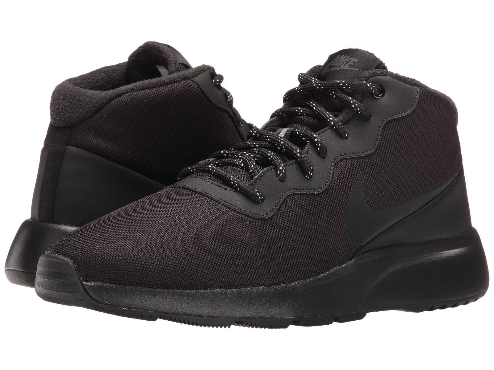 Nike Men's Shoes Tanjun Chukka Black Running Sneakers ...