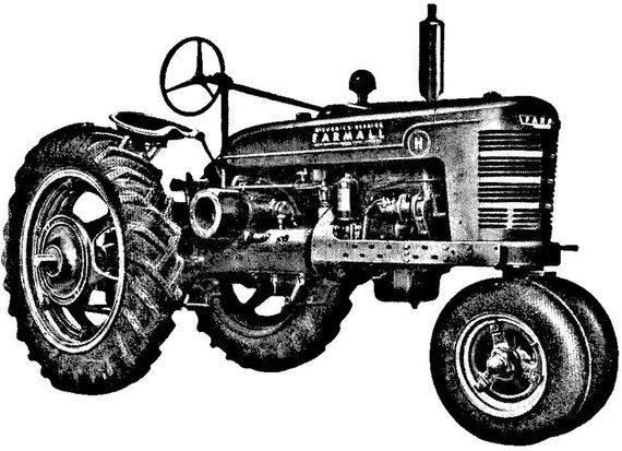 Old Tractor Clip Art : Rubber stamps allow you to customize your stationery