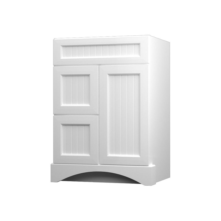 KraftMaid Summerfield Nordic White Casual Bathroom Vanity (Common ...