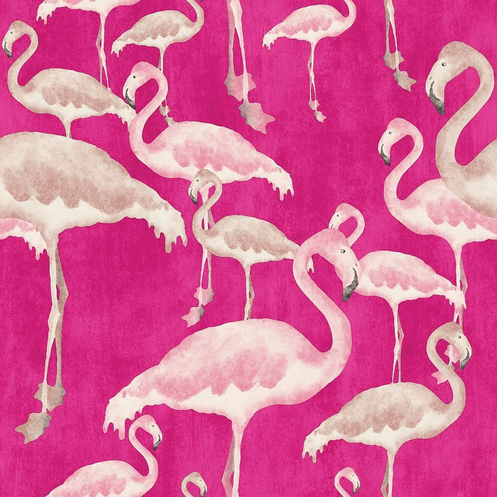 Flamingo Beach By A Shade Wilder Orchid Wallpaper Direct