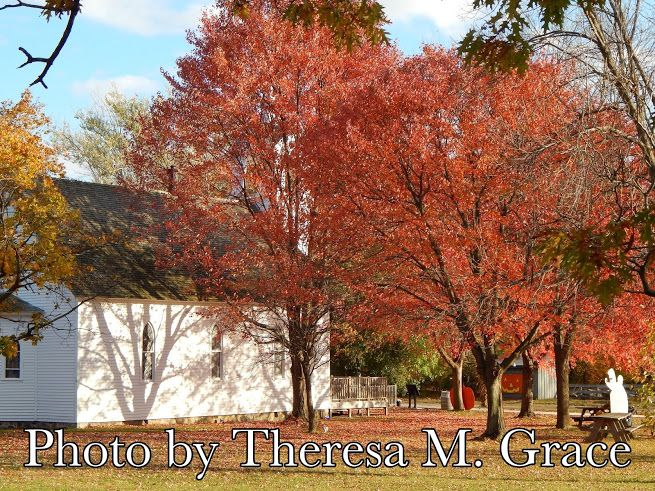 Church in Autumn  Crossroads Village  Genesse MI