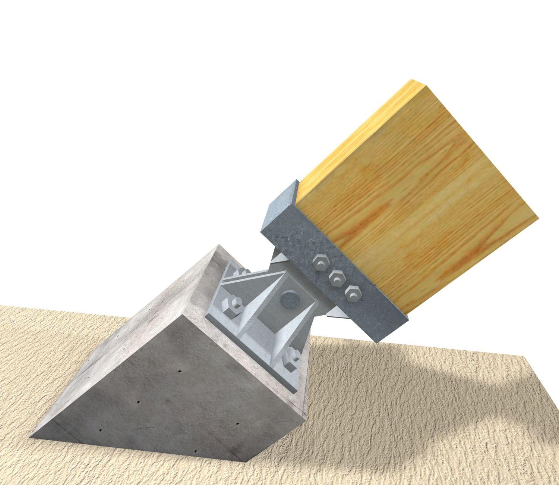Union madera hormigon buscar con google estructura - Estructura madera laminada ...