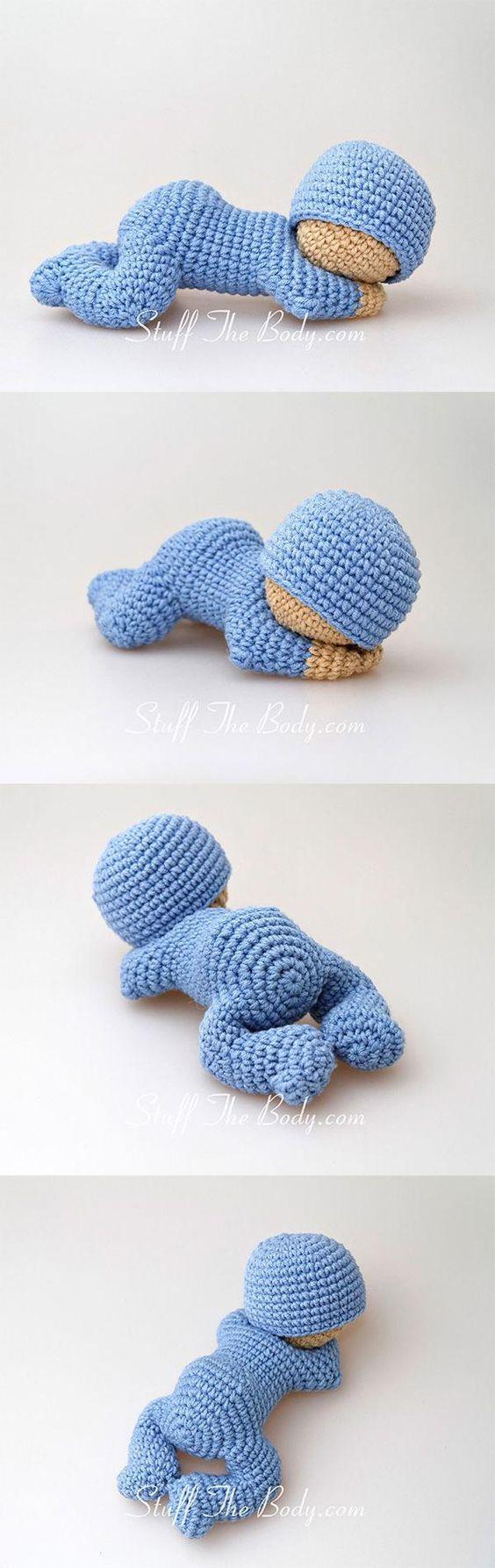 Sleeping baby amigurumi pattern by StuffTheBody | Muñecas de crochet ...