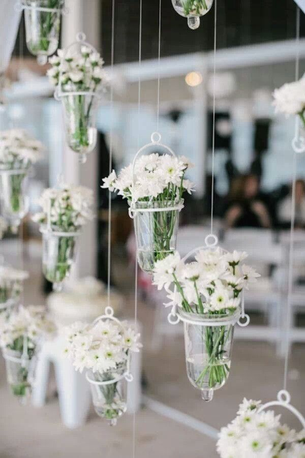 Hanging white flowers We incorporate this often