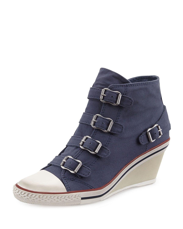 e9e87e5f7f63 Ash Genialbis Buckled Wedge Sneaker