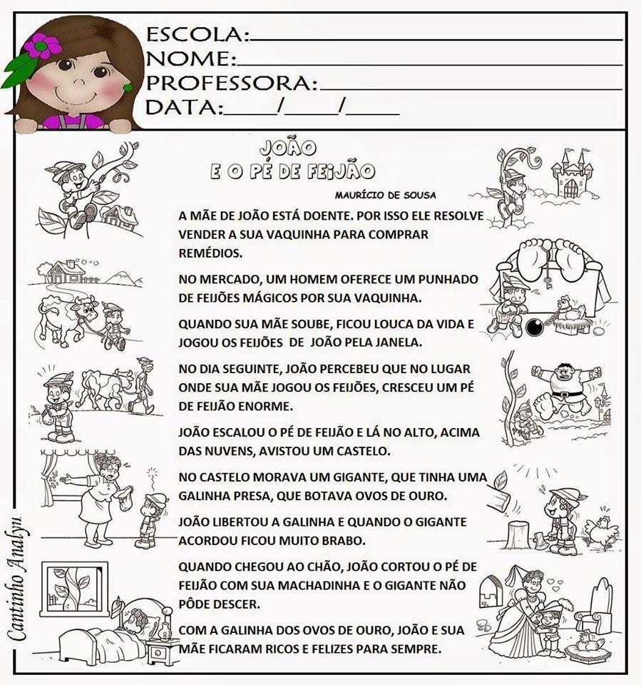 Joao Pe De Feijao Atividade Dia Do Livro Atividades De Conto De